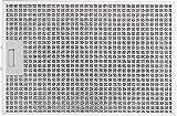 SILVERLINE MFF12-E-51 Edelstahl-Metallfettfilter, 12-lagig, für Comet Isola Premium Inselhaube/Dunstabzugshaubenzubehör / Filter
