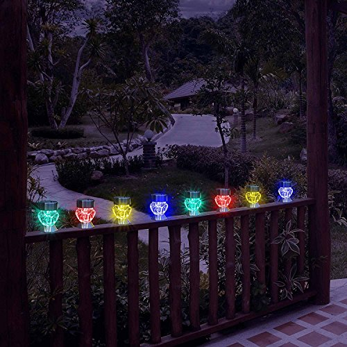 Garden-mile-Pack-Of-4-colour-changing-LED-Lights-Solar-Lights-LED-Solar-Lights-Garden-Outdoor-Lighting-Garden-Ornaments-Pathway-Lights