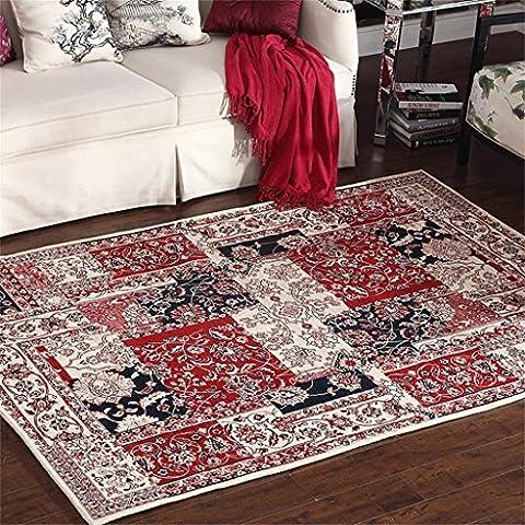 Flash americano Carpet europeo Tappeto Divano Tavolino Tappetini comodino camera da letto Fashion Tappeti, Ciniglia, Rosso, 140 x 200 cm