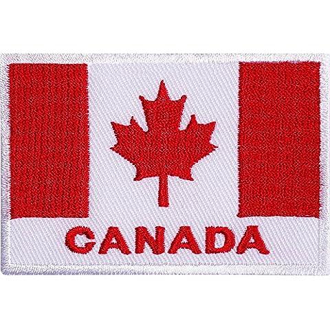 Kanada Flagge gesticktes Eisen nähen auf Patch Kanadische Jacke Tasche T Shirt HAT Badge