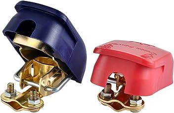 EnRise Connettori di Batteria a Sgancio Rapito Terminali Morsetti di Batteria 12V/24V(1 paio)