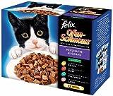 Felix Ofenschmaus 12er Multi Pack Fleisch & Fisch Mix, 12x 100g Frischebeutel - Katzenfutter -