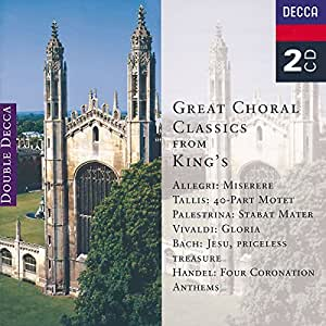 "Grandes oeuvres chorales du Choeur ""King's college"""