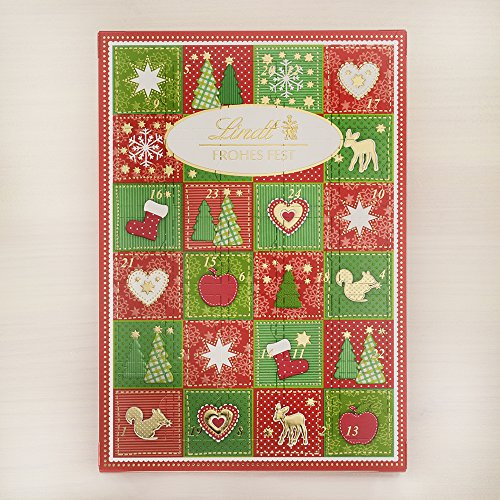 Lindt - Frohes Fest Tischkalender Adventskalender mit Schokolade