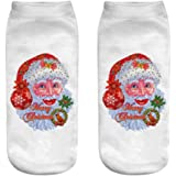 Unisex Christmas Comfortable Cotton Sock, Quaan Slippers Short Print Ankle Socks about props Warm Cute winter slippers soft cozy light elastic deodorant Anti underpants sleeping socks