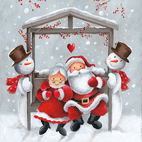 Ambiente tovaglioli in carta Dinner/Party ca. 33 x 33 cm Christmas Mr. and Mrs. Claus