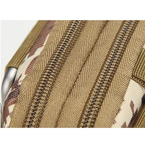 Wear-resisting Tactical Tasche - iParaAiluRy Außen Sport Leichtbau mit hoher Kapazität Wasserdichte Nylon Molle Reißverschluss-Pack Utility-Gürteltasche für kleine Gegenstände Wüste Digitale