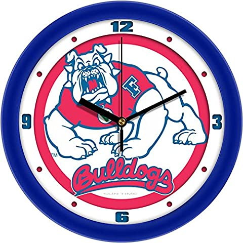 Fresno State Bulldogs FSU NCAA 12In Collegiate Wall Clock by SunTime