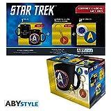 Star trek catan 599386031–Geschenkset Star Trek (Tasse + Schlüsselanhänger + 2Badge)