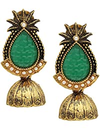 Jhumka/Jhumki | Sun Design | Brass Golden Jhumka | Jhumka For Womens And Girls - By The Lakh