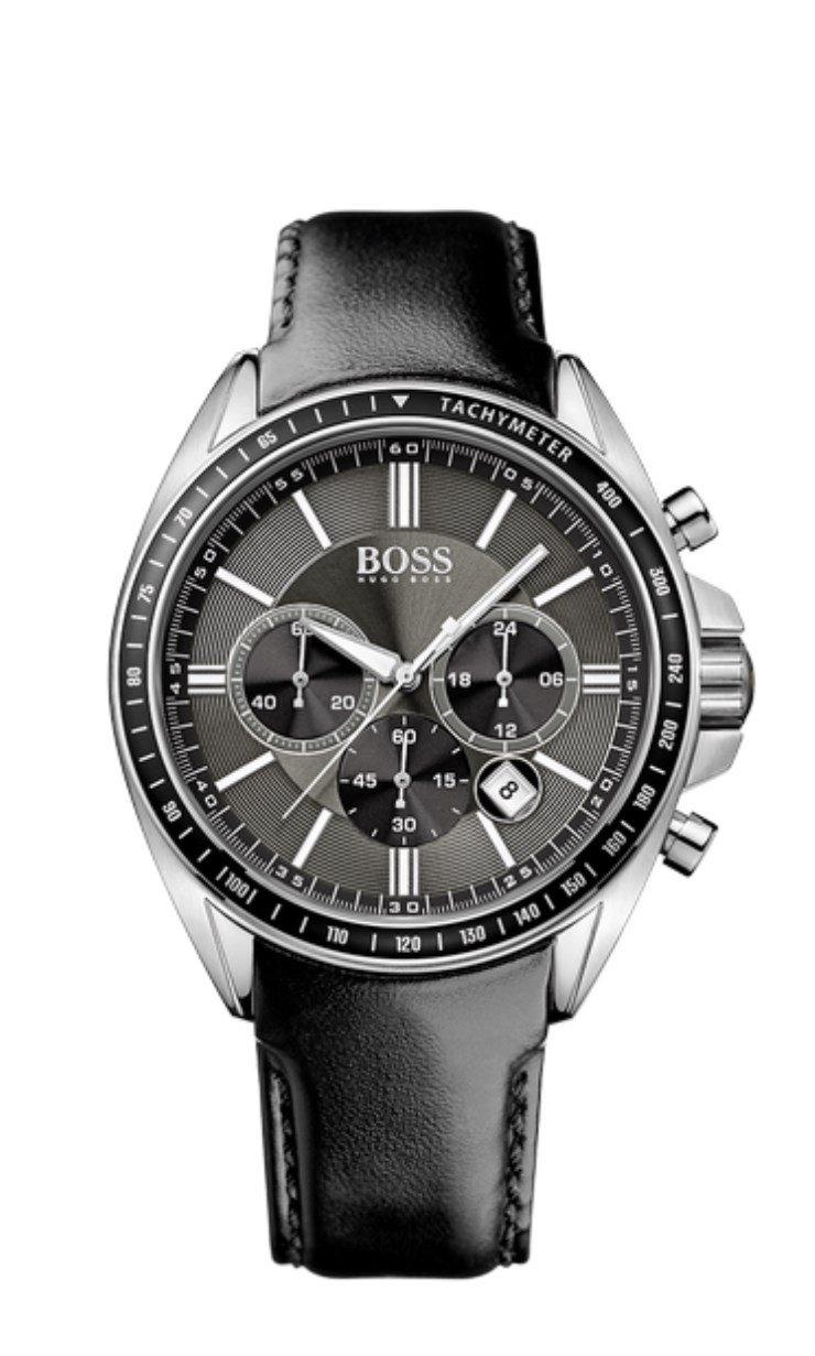 Hugo Boss Herren-Armbanduhr XL Chronograph Quarz Leder 1513085 1