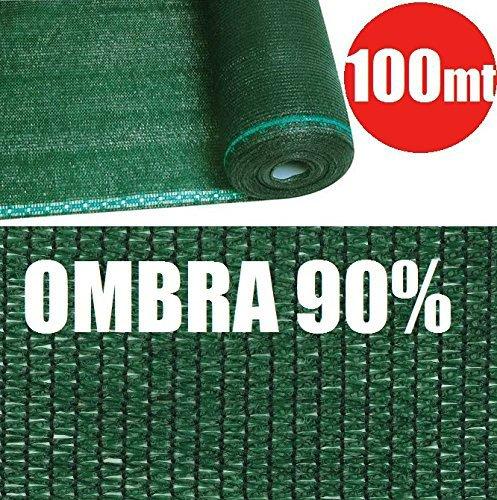 Rotolo 100mt telone ombreggiante frangivista verde - h 100 - per rete metallica - [cod.2802]