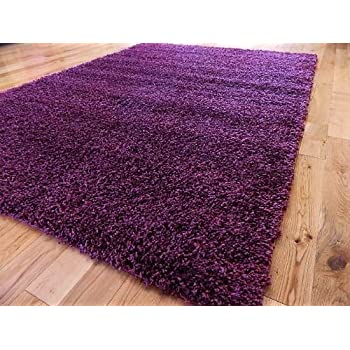 extra large purple medium new modern soft thick shaggy rugs non shed runner mats 120 x 170 cm 4 ft x 5 ft 7free uk mainland delivery by rugs 4 home