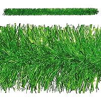 10,8 M añadiéndole algunas guirnaldas de la guirnalda para árbol de Navidad metálico de hoja de colour verde/metálico de Garland - De colour verde