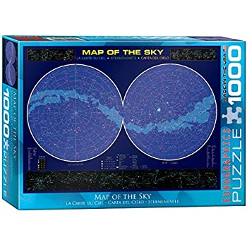 Eurographics Map of the Sky Puzzle (1000 Pieces)