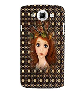 PrintDhaba Sweet Girl D-5049 Back Case Cover for SAMSUNG GALAXY MEGA 5.8 (Multi-Coloured)