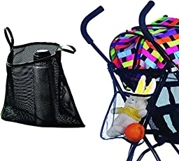 Charis Kid Mesh Stroller Bag Stroller Attachable Organizer Carrying Bag Umbrella Baby Stroller Accessories (Black (2 Pack))