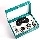 mCaffeine Pro Coffee Night Skincare Winter Gift Set   Serum, Under Eye Cream, Moisturizer, Sleeping Mask & Mulberry Silk Eye