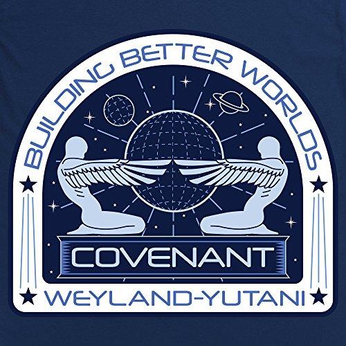 Official Alien: Covenant Building Better Worlds Monochrome Langarmshirt, Herren Dunkelblau