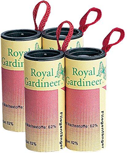 Royal Gardineer Fliegenfalle: Fliegenfänger 4er-Pack (Mücken Klebestreifen)