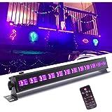 Uv-verlichting, UKing blacklight LED met 12 x 3W UV LED bar lichteffecten met afstandsbediening partylicht voor DJ Disco carn