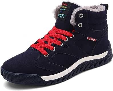 SITAILE - Scarpe sportive da uomo con lacci, invernali, per il tempo libero, calde e imbottite
