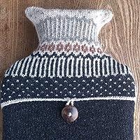 Hot Water Bottle Pure Wool Icelandic Grey