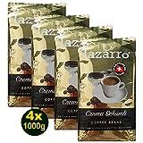 Lazarro Crema Schümli Coffee Beans 4x 1000g (4000g) Kaffeebohnen geröstet nach Schweizer Art!