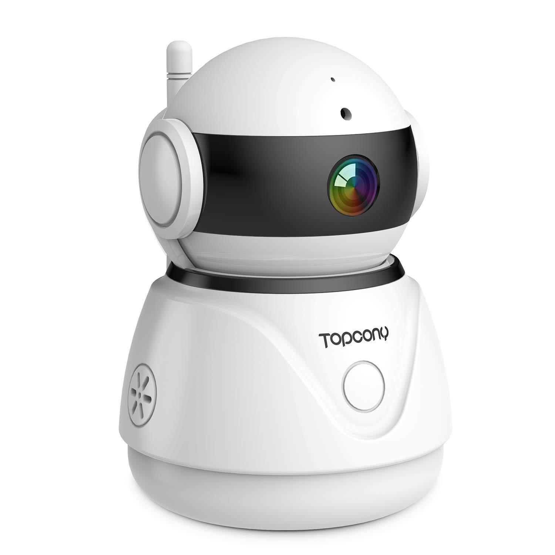 Topcony WiFi IP Camera 1080P Wireless Home Security Surveillance Indoor CCTV Camera Baby/Elder/Pet/Nanny Monitor, Pan…