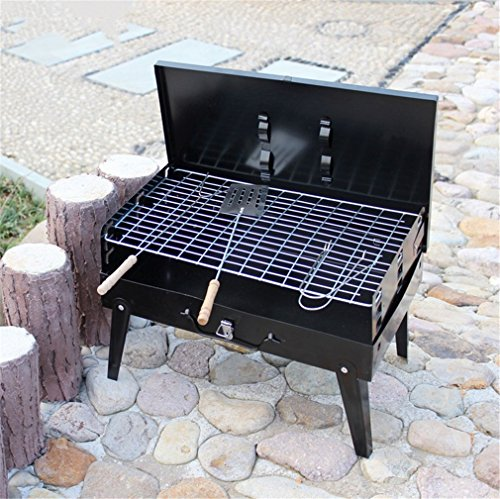 CLODY Outdoor Portable Charcoal Grill Folding Box Grill Barbecue Stove