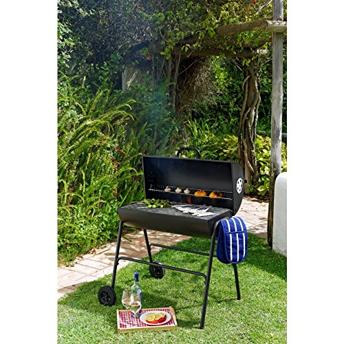 Oil Drum Charcoal BBQ with Cover