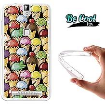Becool® Fun - Funda Gel Flexible para Elephone P8000, Carcasa TPU fabricada con la mejor Silicona, protege y se adapta a la perfección a tu Smartphone y con nuestro exclusivo diseño. Cucuruchos de helado