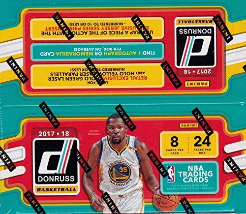 Ungeöffnete Box mit Paketen 2017 2018 Donrus NBA Basketball Retail Series Riesige enthält 192 Karten inklusive einer Autogrammkarte oder Memorabilia Karte pro Box plus Einlagen für den Einzelhandel