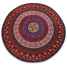 "Mandala redonda india Cuadro Tapiz de tela Bedsheet Playa Bote Diámetro Yoga Mat 80 """
