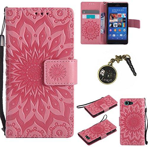 Preisvergleich Produktbild PU Silikon Schutz hülle Handyhülle Painted pc case cover hülle Handy-Fall-Haut Shell Abdeckungen für Sony Xperia Z3 Compact +Staubstecker (3FF)