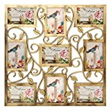 Tradico® Bronze Floral Wall Hanging Collage Photo Frames Picture Display Decor Gift 6X4inch One Piece