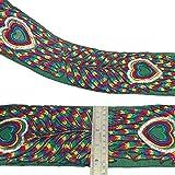 pavo real tela bordada recortar 4,2 cm de ancho elaboración de encajes de coser por el patio
