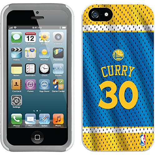 Coveroo iPhone 5/5S White-Grey New Guardian Case with Stephen Curry Road Jersey Back Design (Road Jersey White)