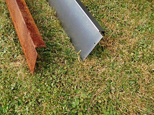 Bordo prato profilo ad angolo in acciaio corten for Bordi per giardino