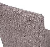 6x Esszimmerstuhl Stuhl Lehnstuhl Littau ~ Textil, grau, helle Beine - 6