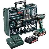 Metabo Akku Schlagbohrschrauber SB 18 Set (mit Akku 2,0 Ah, 18 V, Schlagschrauber mit Koffer + umfangreiches Zubehör - Set) 6