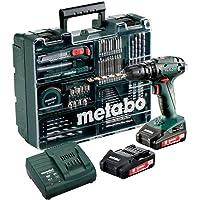 Metabo Akku Schlagbohrschrauber SB 18 Set (mit Akku 2,0 Ah, 18 V, Schlagschrauber mit Koffer + umfangreiches Zubehör…