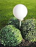 Bonetti LED Solar Gartenkugel Ø 30 cm Solarlampe Gartenlampe Dekoleuchte Außenleuchte