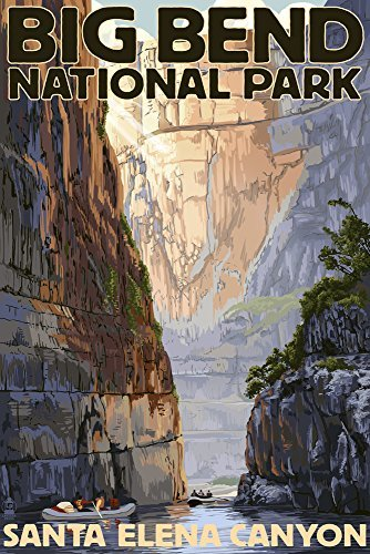 Big Bend National Park, Texas-Santa Elena Canyon, Papier, multi, 12 x 18 Art Print
