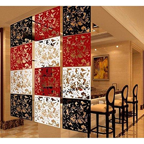 Sharplace 8pcs Hängend Schmetterling Blume Muster Raumteiler Trennwand Wand Aufkleber Wohnzimmer Schlafzimmer Räumen Dekoration aus Kunststoff - Weiß
