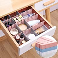 OSEO Drawer Divider Organizers, DIY Plastic Grid, Plastic Adjustable Drawer Dividers, Household Storage - Makeup Socks…