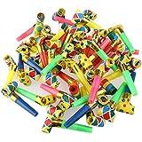 NUOLUX Party Blowouts Bulk Paper Blowouts Party Favors Toy 48pcs Random Color