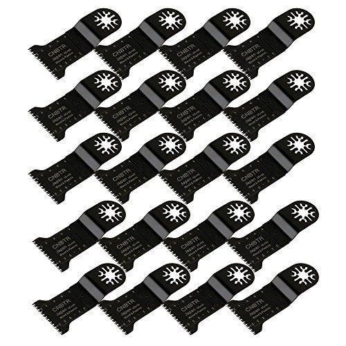 cnbtr 45x 40mm schwarz kohlenstoffreicher Stahl Universal Japan Zahn oszillierendes Sägeblatt Multi Tools Set von 20