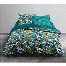 Today HC3Crazy Eurasia Juego de cama 2personas y funda de edredón y 2fundas de almohada, poliéster, verde/azul, 220x 240cm