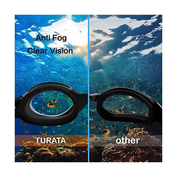 Lunettes de Natation – TURATA Lunettes de Piscine Adulte Transparents  Antibuée Etanches Protection UV Réglables Etui ... 2ea8c70367ac